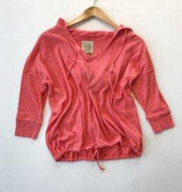 gauzy 3/4 sleeve hoodie More Colors