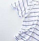 Gauzy cotton tie front s/s flouncy hi lo henley