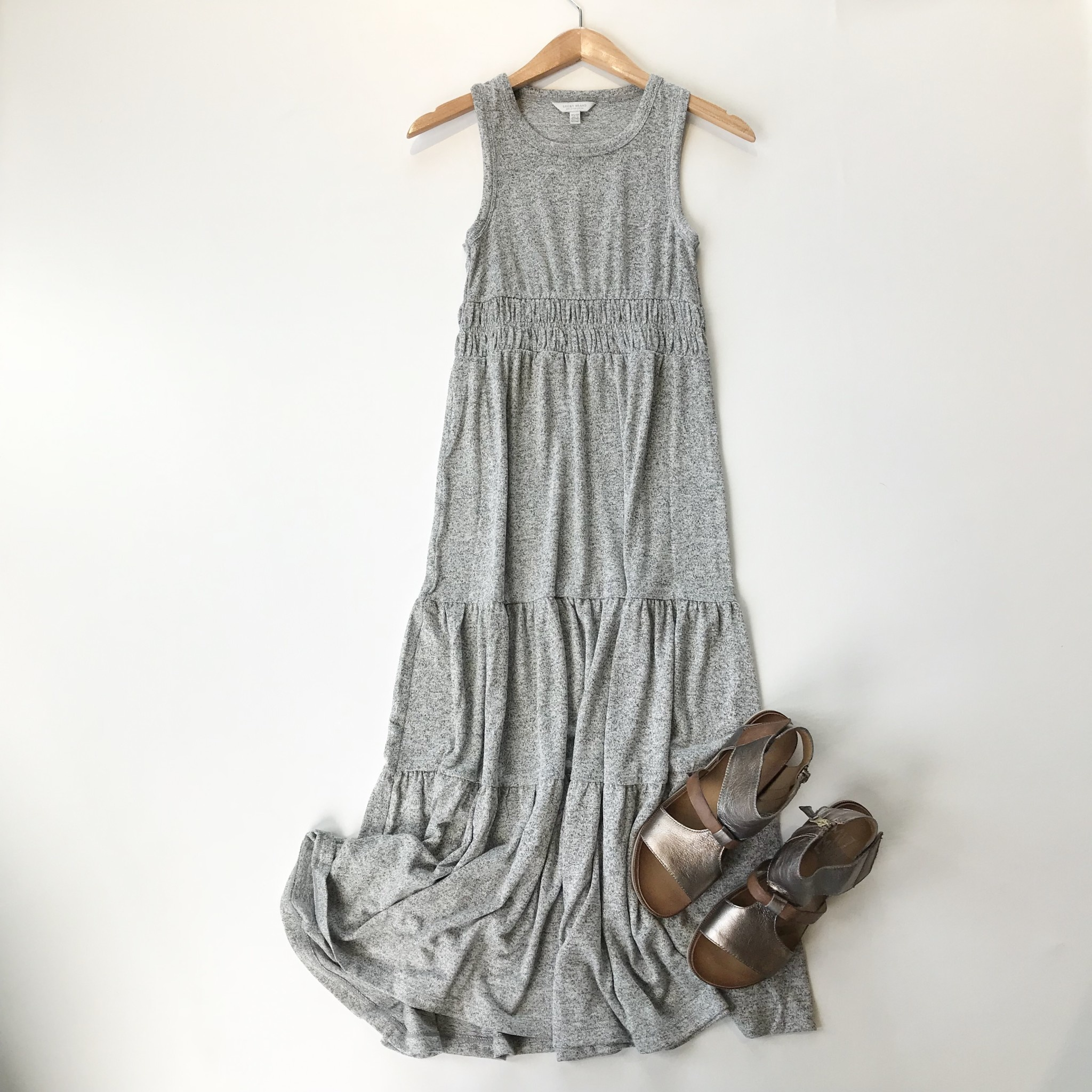 Lucky Brand cloud jersey tiered maxi