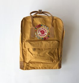 Custom Embroidered Kanken Ochre + Coral
