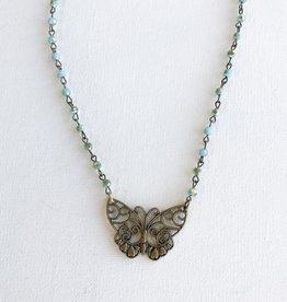 monarch necklace blue