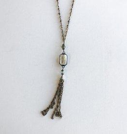 mimosa tassel necklace