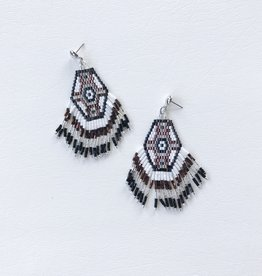 phoenix fringe earrings small bronze/black