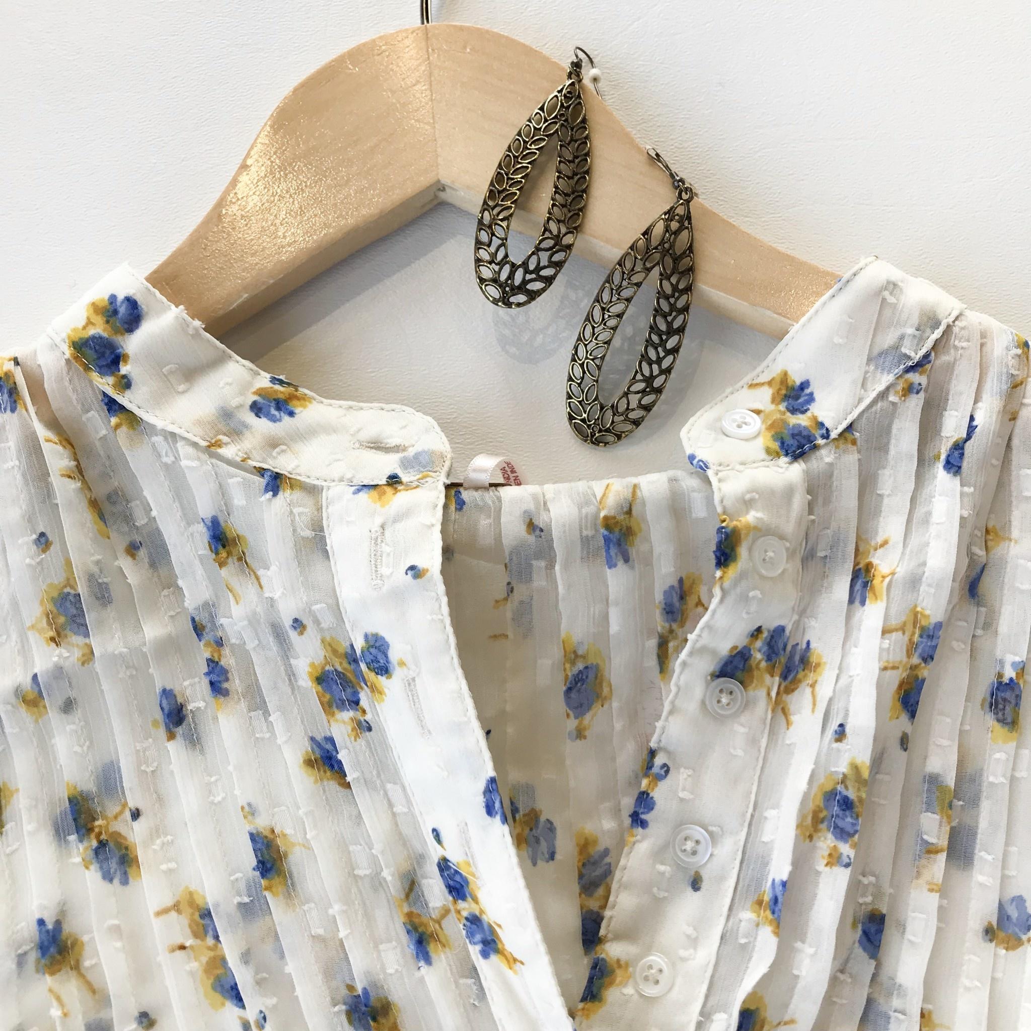 Free People flowers in december blouse