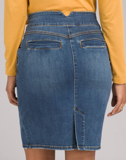 Prana aubrey denim skirt