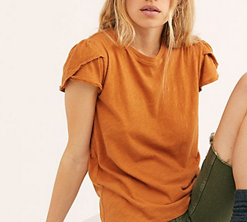 Free People latte tee