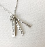 2 bar hellen keller quote necklace