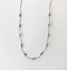 Pyrite trail neckalce