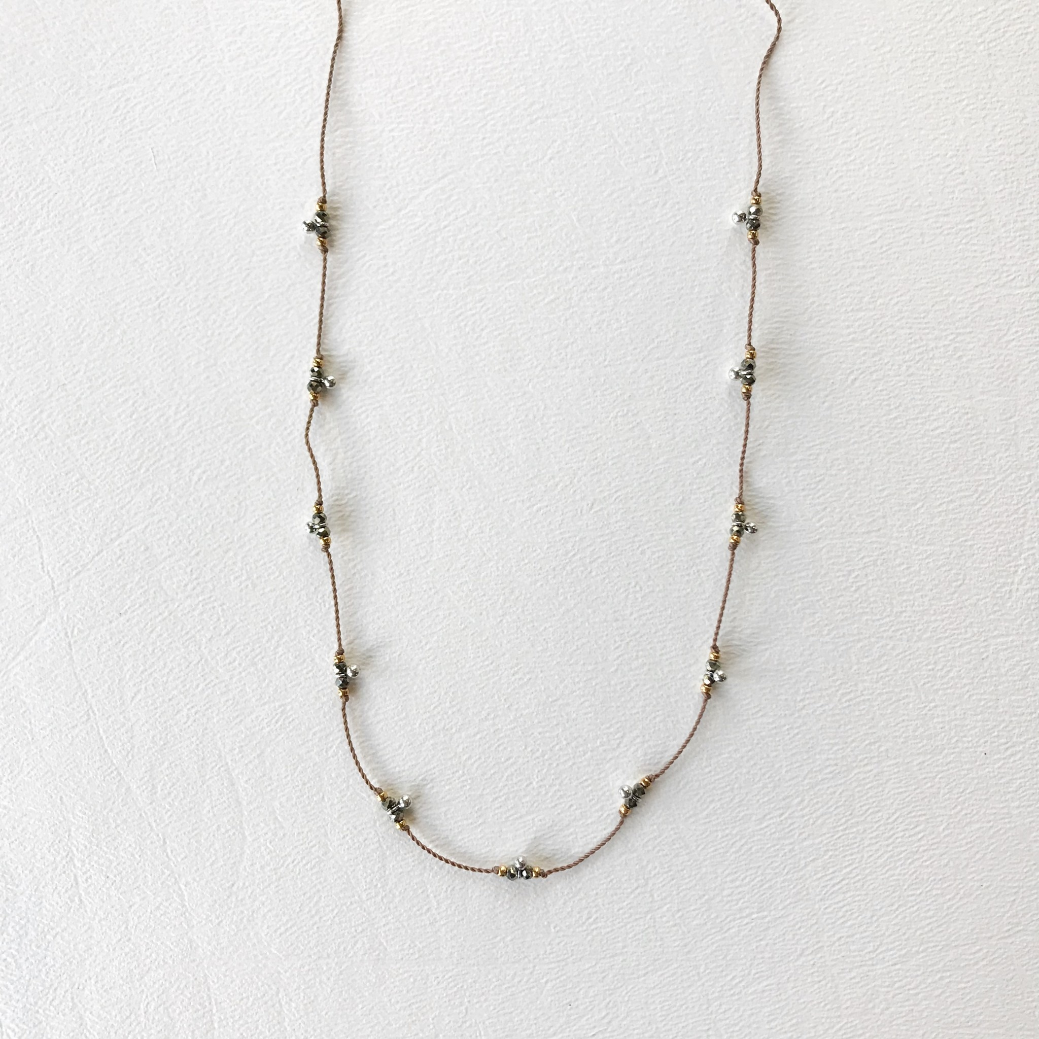 Pyrite trail necklace