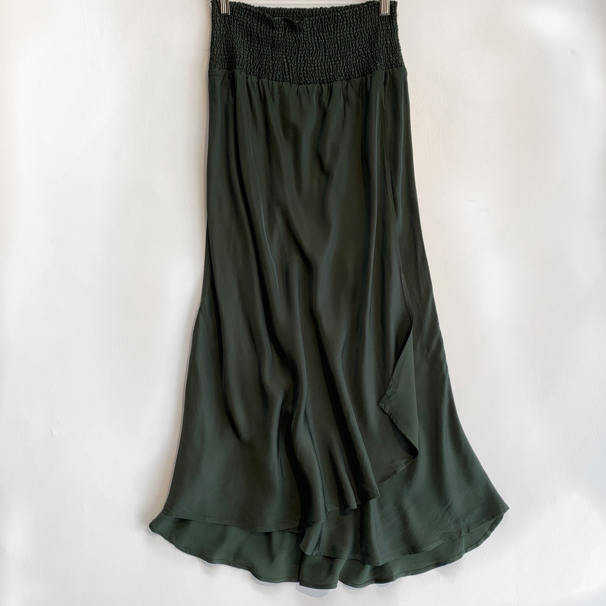 chaser silky basics midi skirt