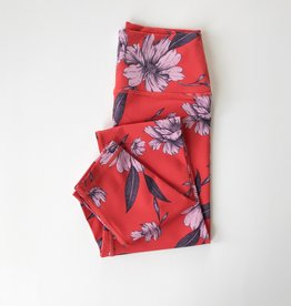spiritual gangster crimson floral legging