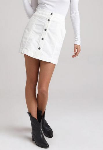 Bella Dahl cord button front skirt