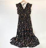 Gracie dress midi w/ lace inset detail