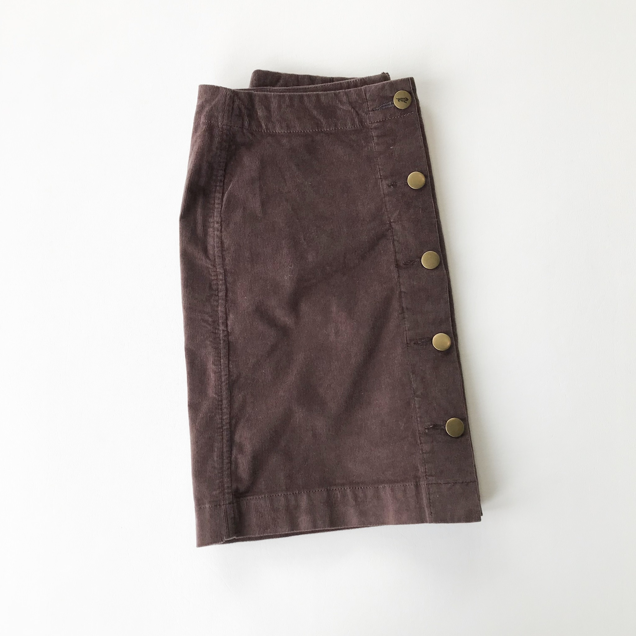 Toad & Co cruiser cord skirt