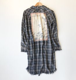 be yourself plaid duster dress