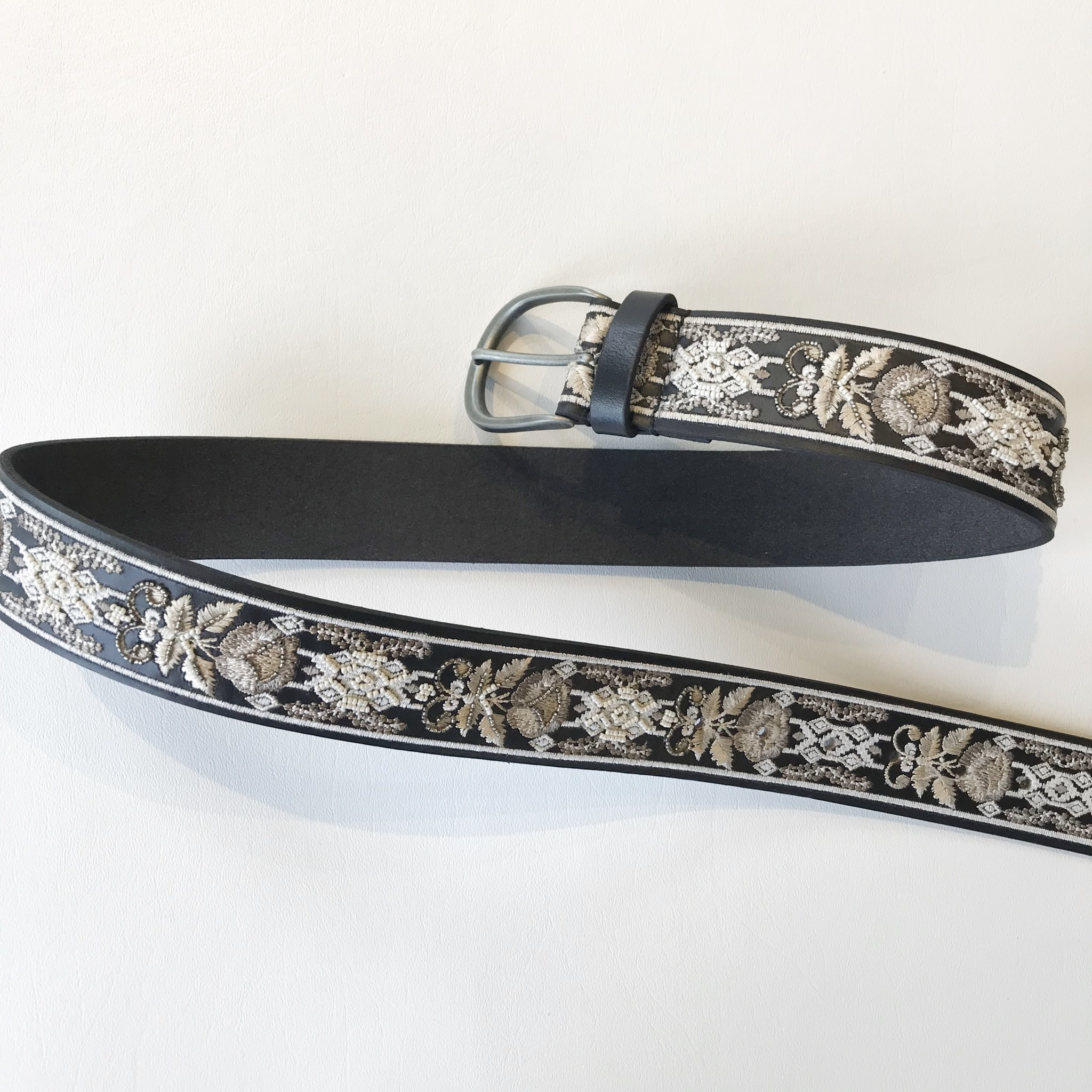 Lucky Brand embroidered beaded belt