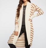 Chaser cozy knit l/s raglan shawl collar duster