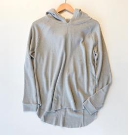 Bobi raw edge raglan hoodie