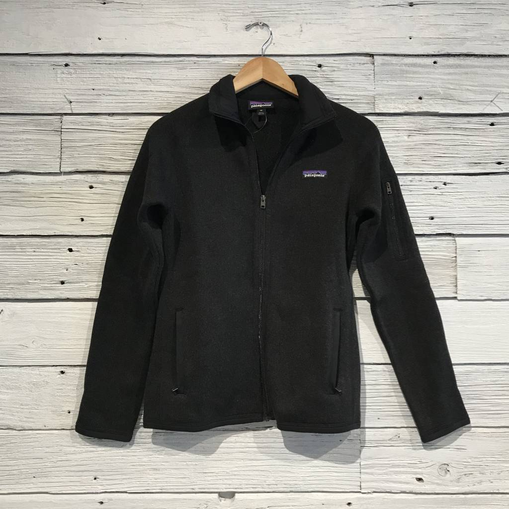 Patagonia Better Sweater Full Zip Black Womens Jacket Blue