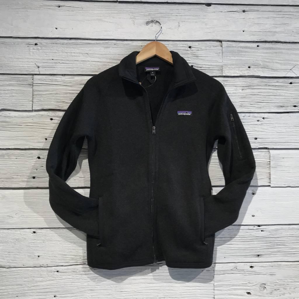 Patagonia Better Sweater Full Zip Black Womens Jacket Blue