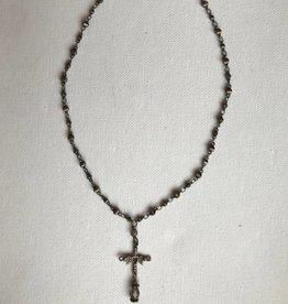 Oranate cross necklace