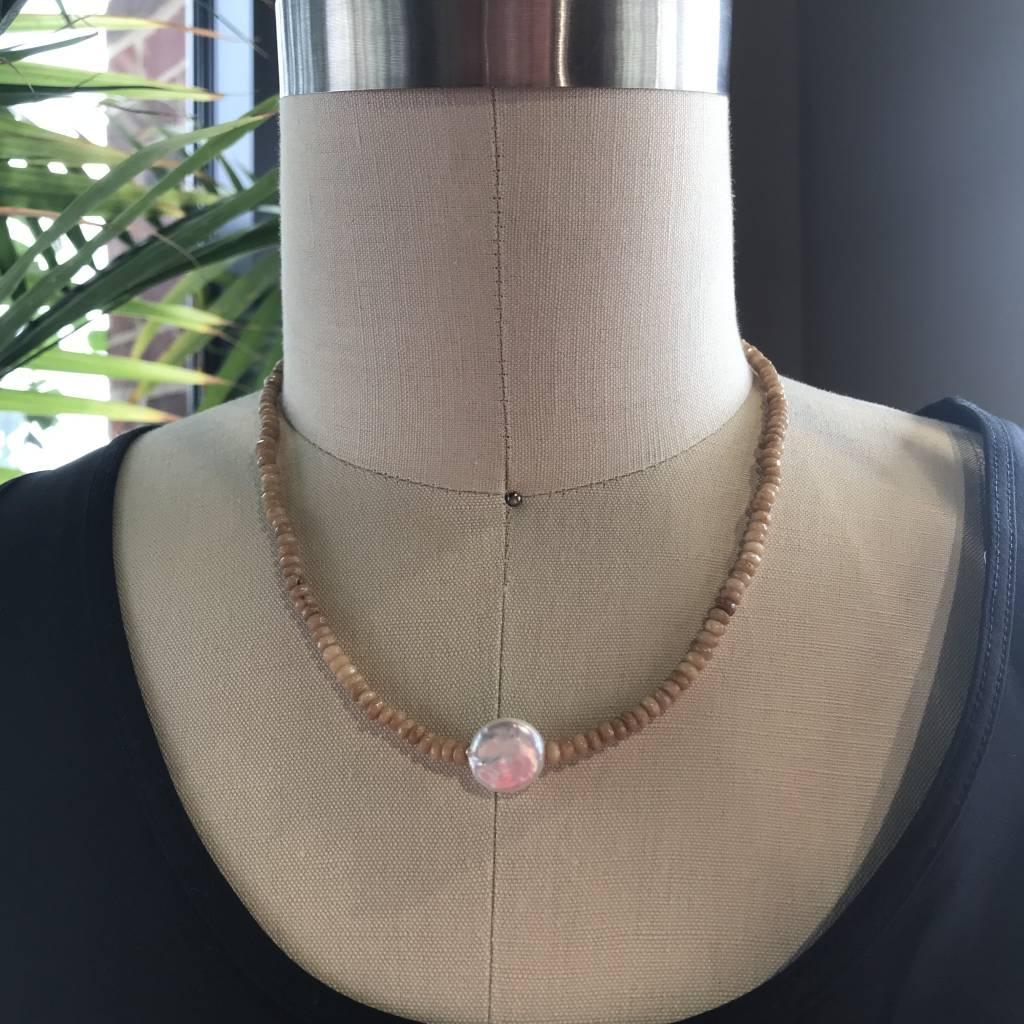 Aqua & Coin Tribal Necklace