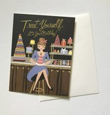 Rifle Paper Co. Blank Birthday Card Treat Yourself