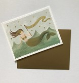 Rifle Paper Co. Blank Birthday Card Vintage Mermaid