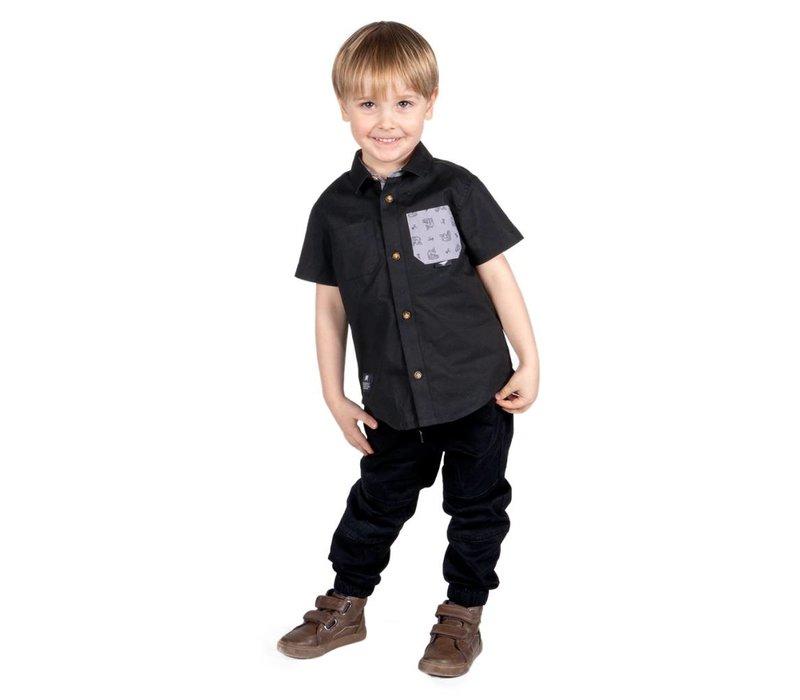 Pantalons jogger noirs Hooké pour enfants