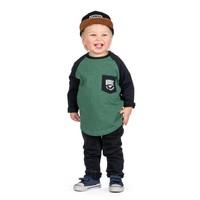 T-shirt Allons Pêcher manches longues raglan pour enfants