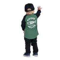 Long sleeve Let's Go Fishing raglan t-shirt for kids