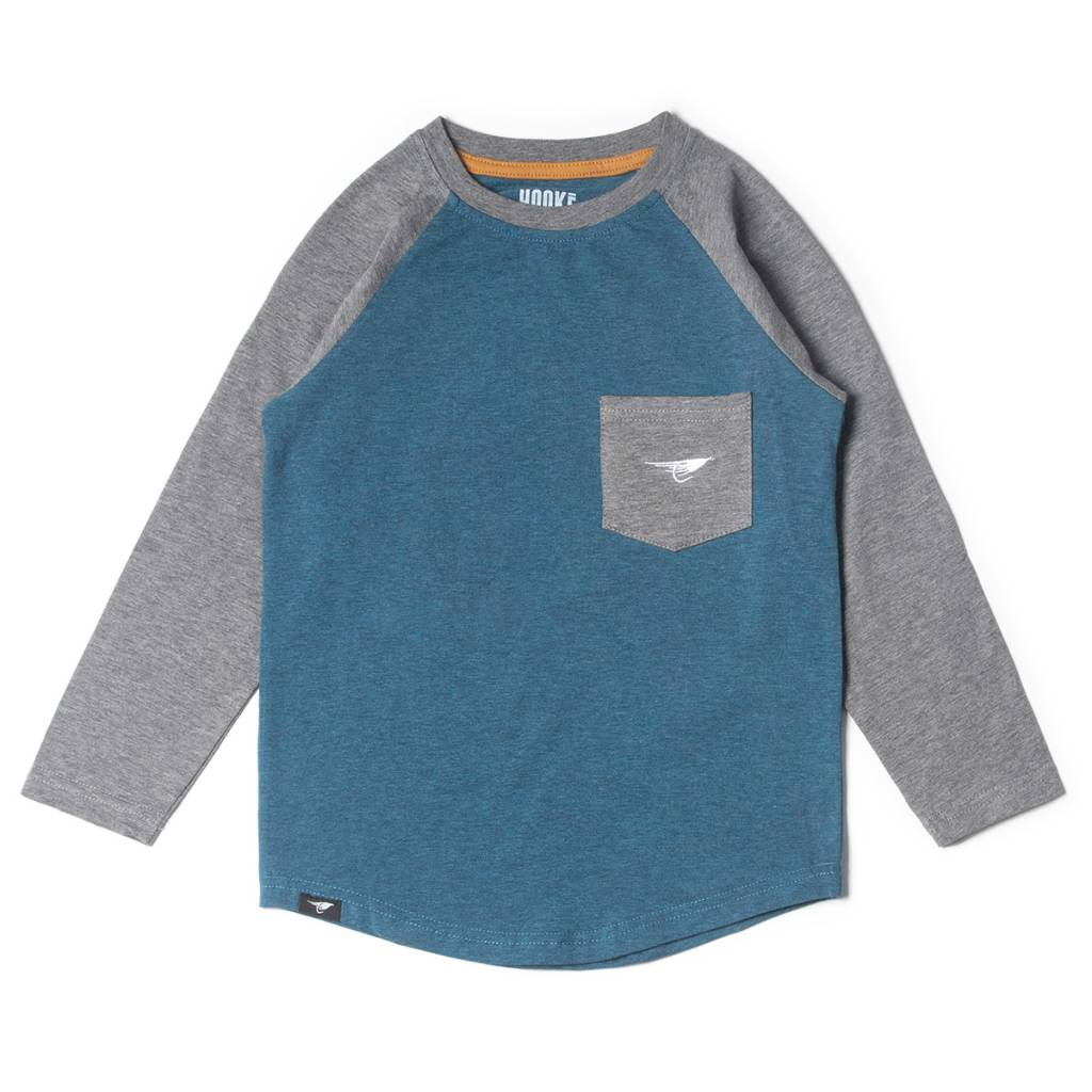 Long sleeve camping raglan t-shirt for kids