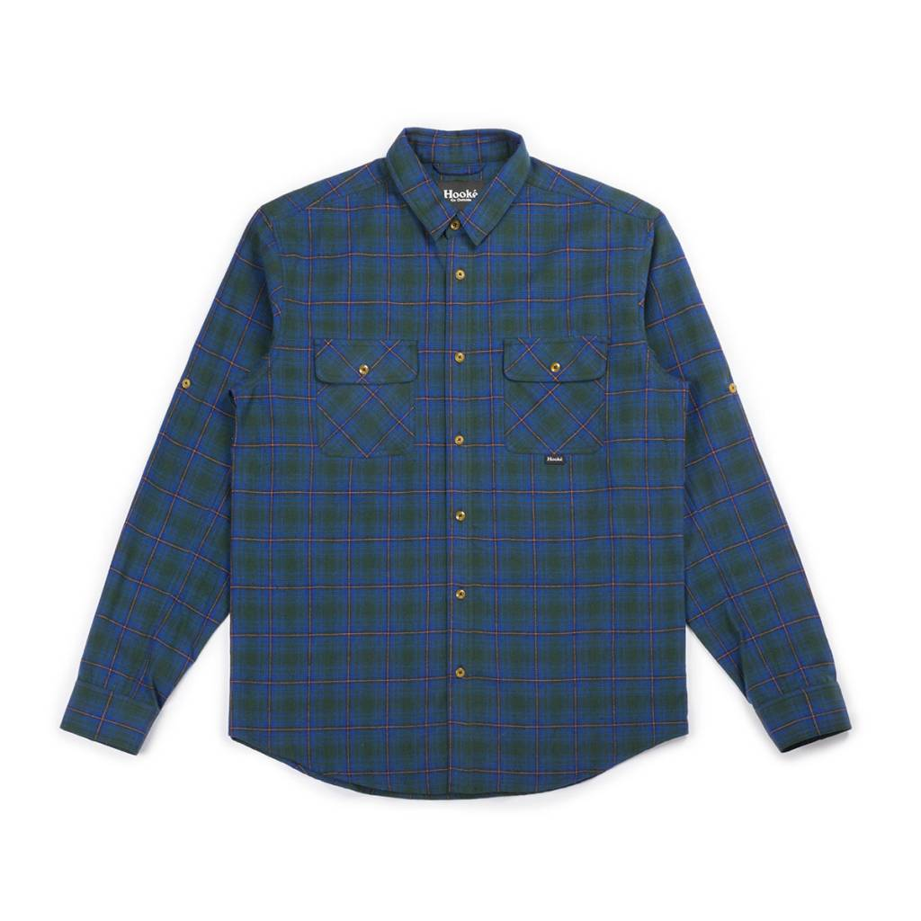 Skeena Shirt Blue & Green Plaid