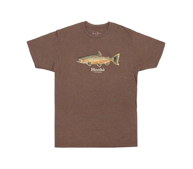 T-Shirt Salmo Trutta Brun Chiné