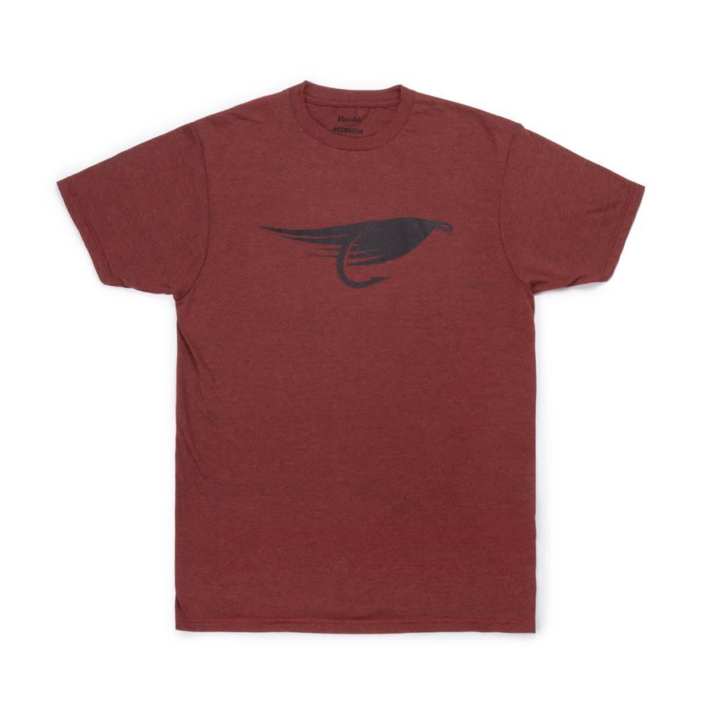 T-Shirt Fly Brique Chiné Noir