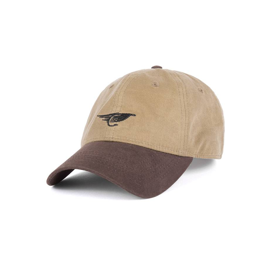 Fly Waxed Dad Hat Sand & Brown