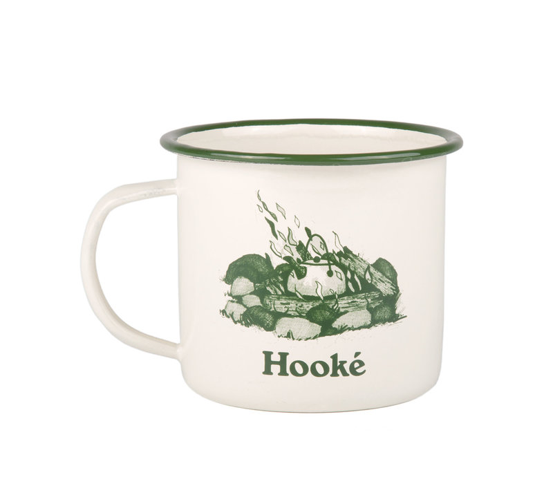 Campfire Mug Antique White & Forest Green