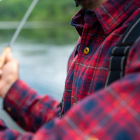 Skeena Shirt Navy & Red Plaid