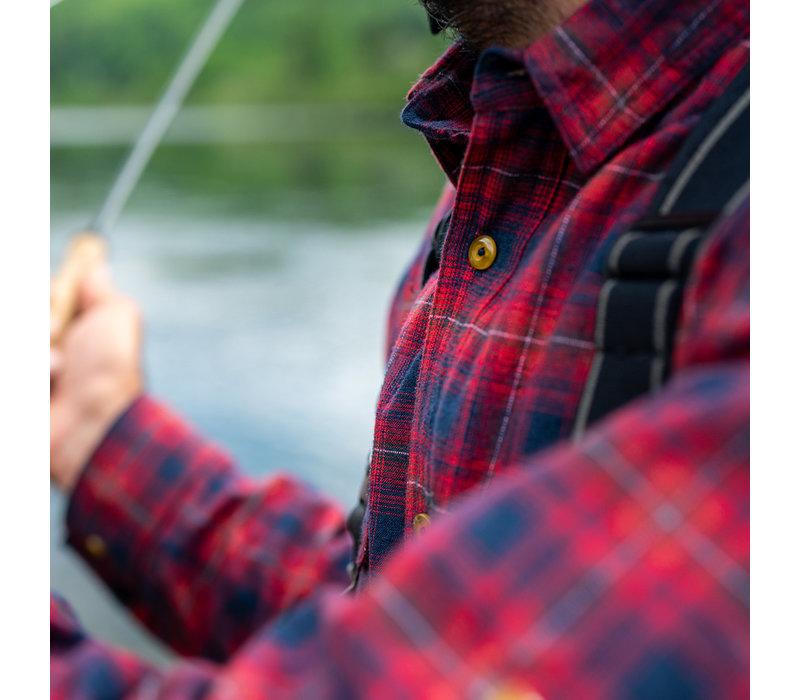 Chemise Skeena Marine et Rouge à carreau