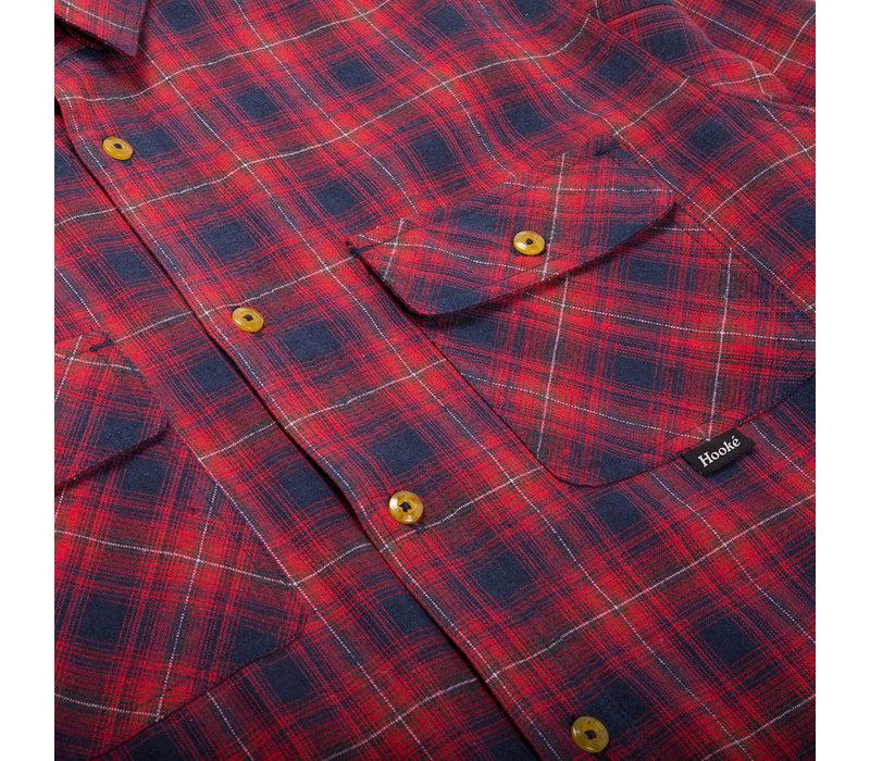 Skeena Shirt Navy & Red Plaid
