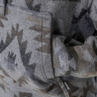 Women's Navajo Poncho Charcoal