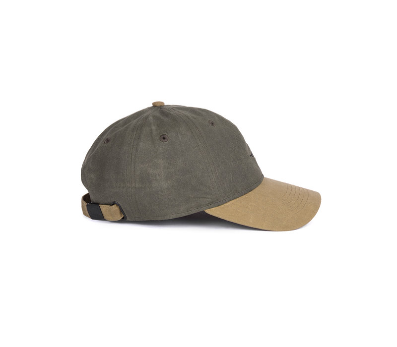 Fly Waxed Dad Hat Military Green & Beige