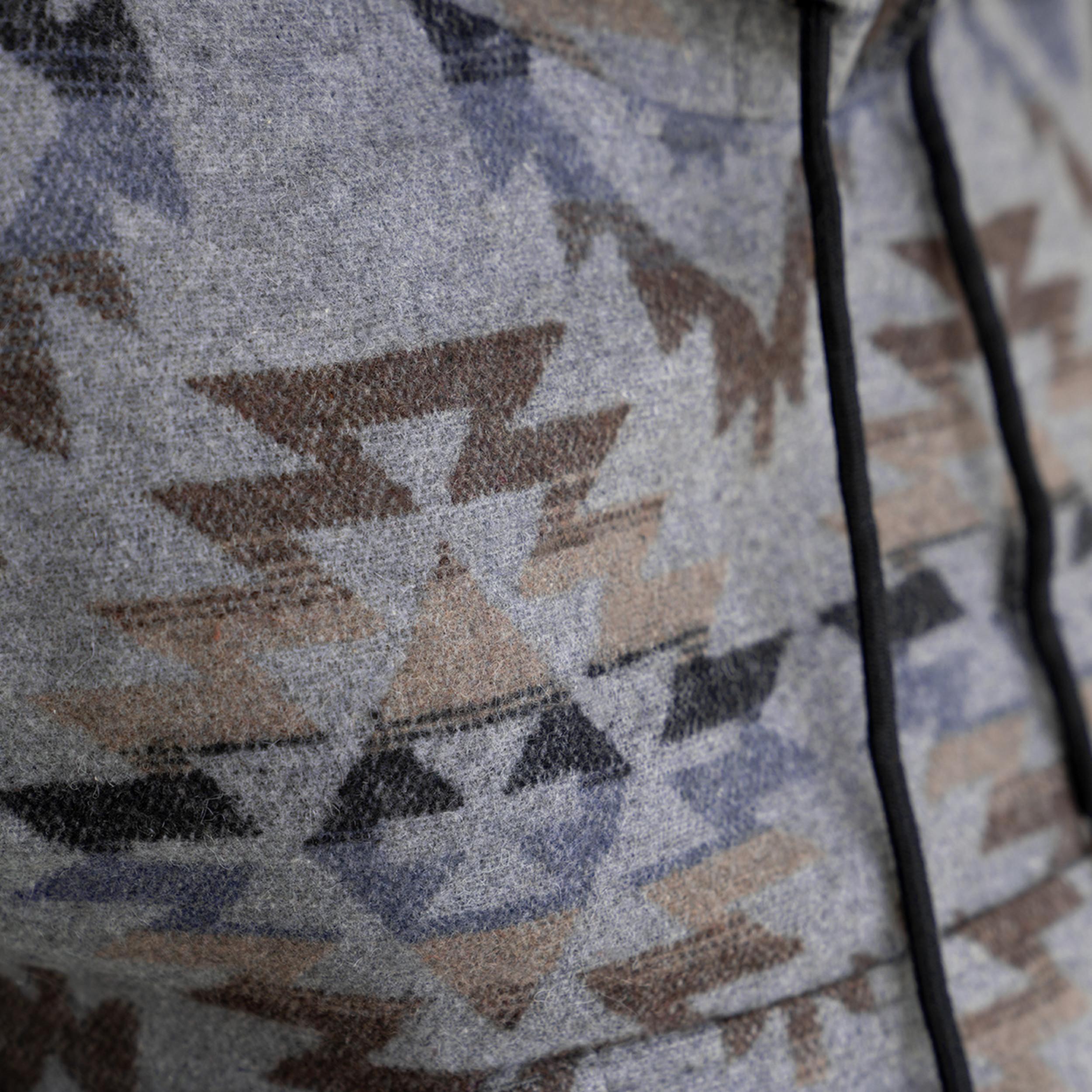 Navajo Poncho Charcoal