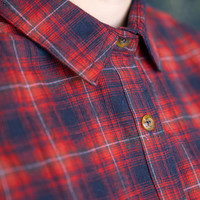 Women's Skeena Shirt Navy & Red Plaid