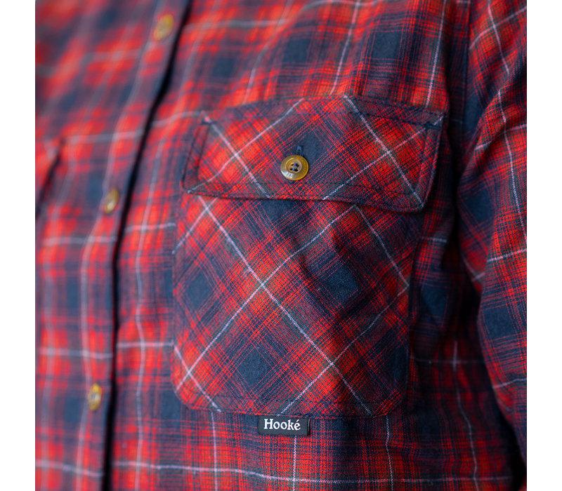 Chemise Skeena pour Femmes Marine et Rouge à carreaux