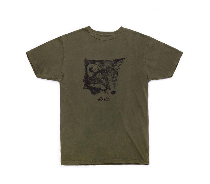 T-Shirt Fox Olive Vintage