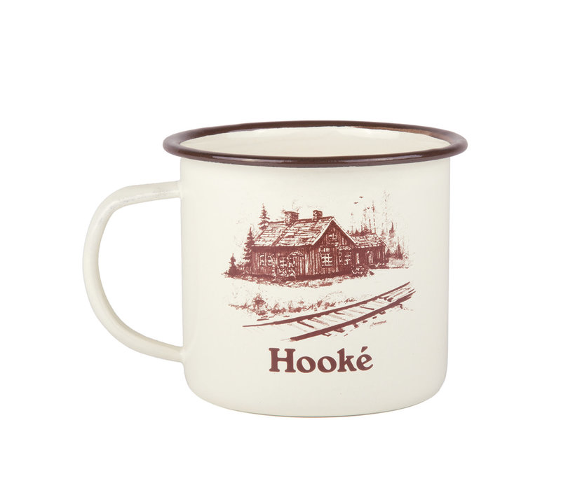 Train Station Mug Antique White & Maroon