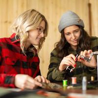 Chemise Canadienne pour femmes Vert Forêt et Noir