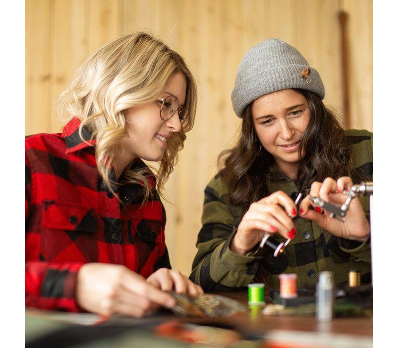 Women's Canadian Shirt Forest Green & Black