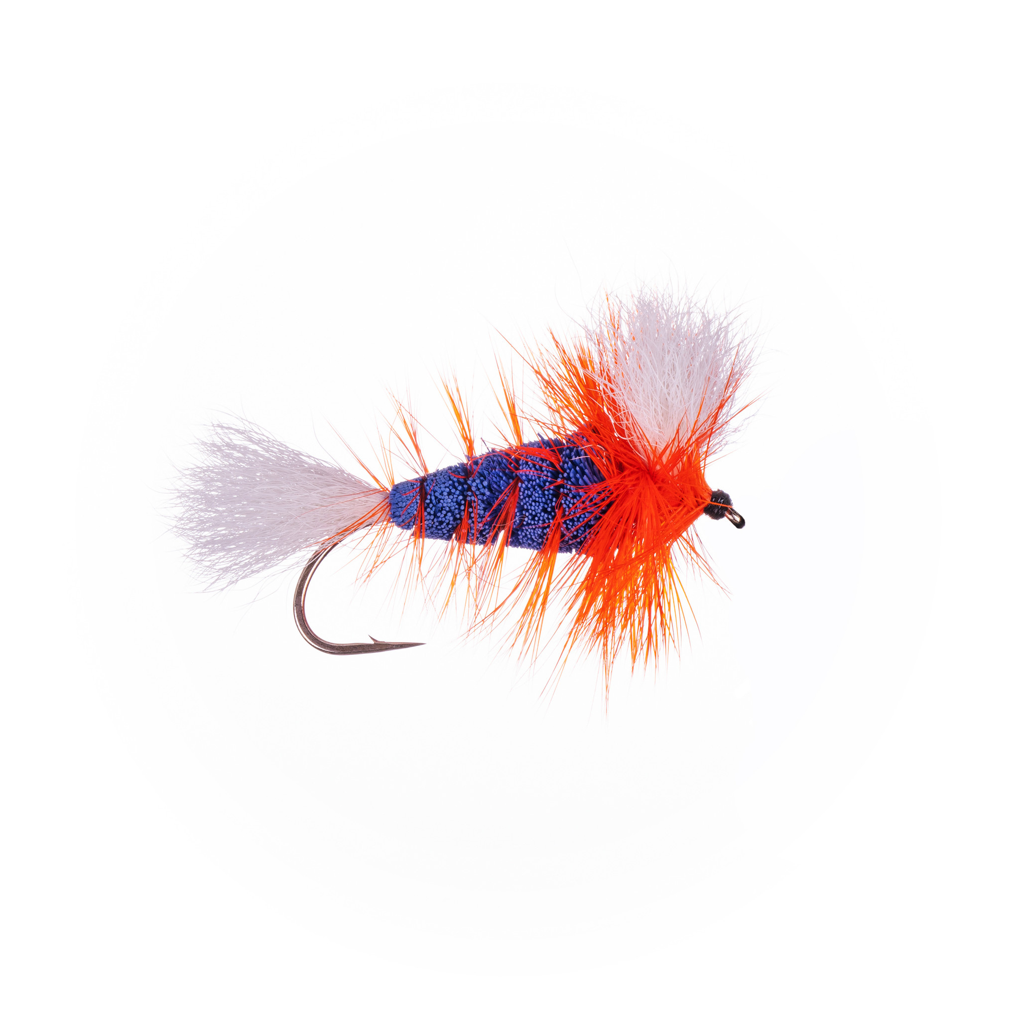 Labatt Blue-White Tail-Hot Orange Hackle (Wulff Bomber) #4